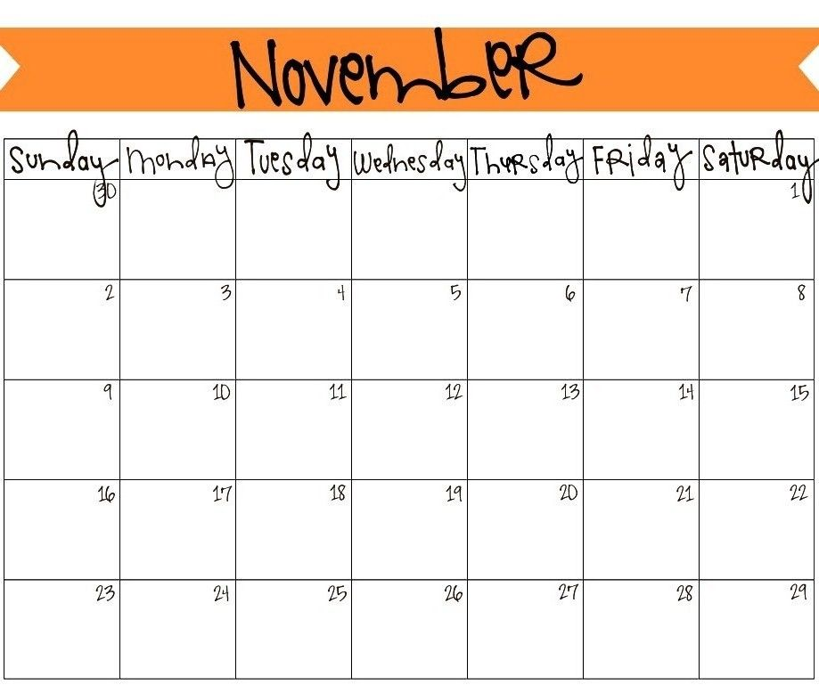 Cute Calendar November 2018 November 2018 Calendar Pinterest