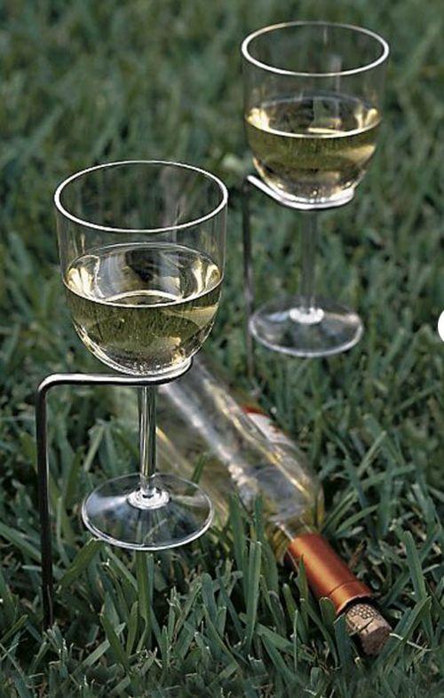 Praktische Coole Garten Deko Idee Weinglas Halter