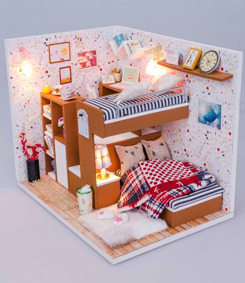 diy dollhouse furniture. Barbie Doll Furniture Diy. Flever Dollhouse Miniature Diy House Kit Creative Room With And