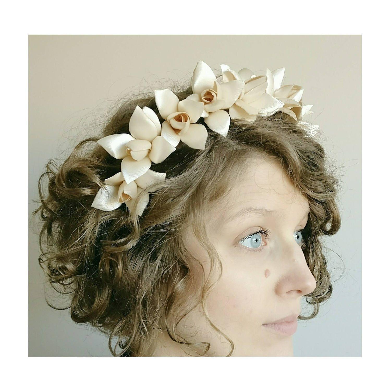 Flower crown ivory floral crown ivory flower crown floral hair flower crown ivory floral crown ivory flower crown floral hair garland bridal izmirmasajfo