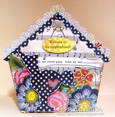 House Shape Card Easy Crafts Cards New Home Cards