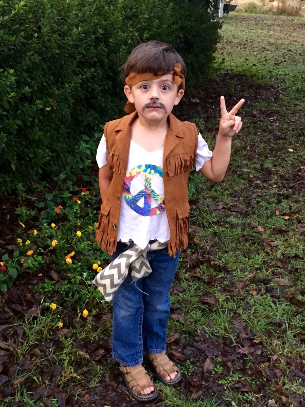 914de744016 Hippie DIY costume Hippie Boy