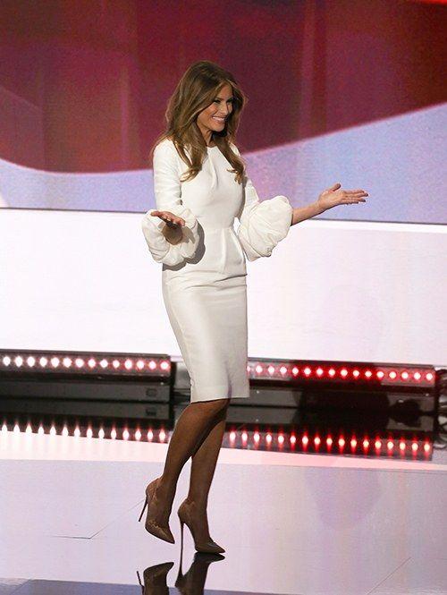 Get To Know Roksanda Ilincic The Designer Behind Melania Trump S Rnc Dress Melania Trump Dress Trump Fashion Milania Trump Style