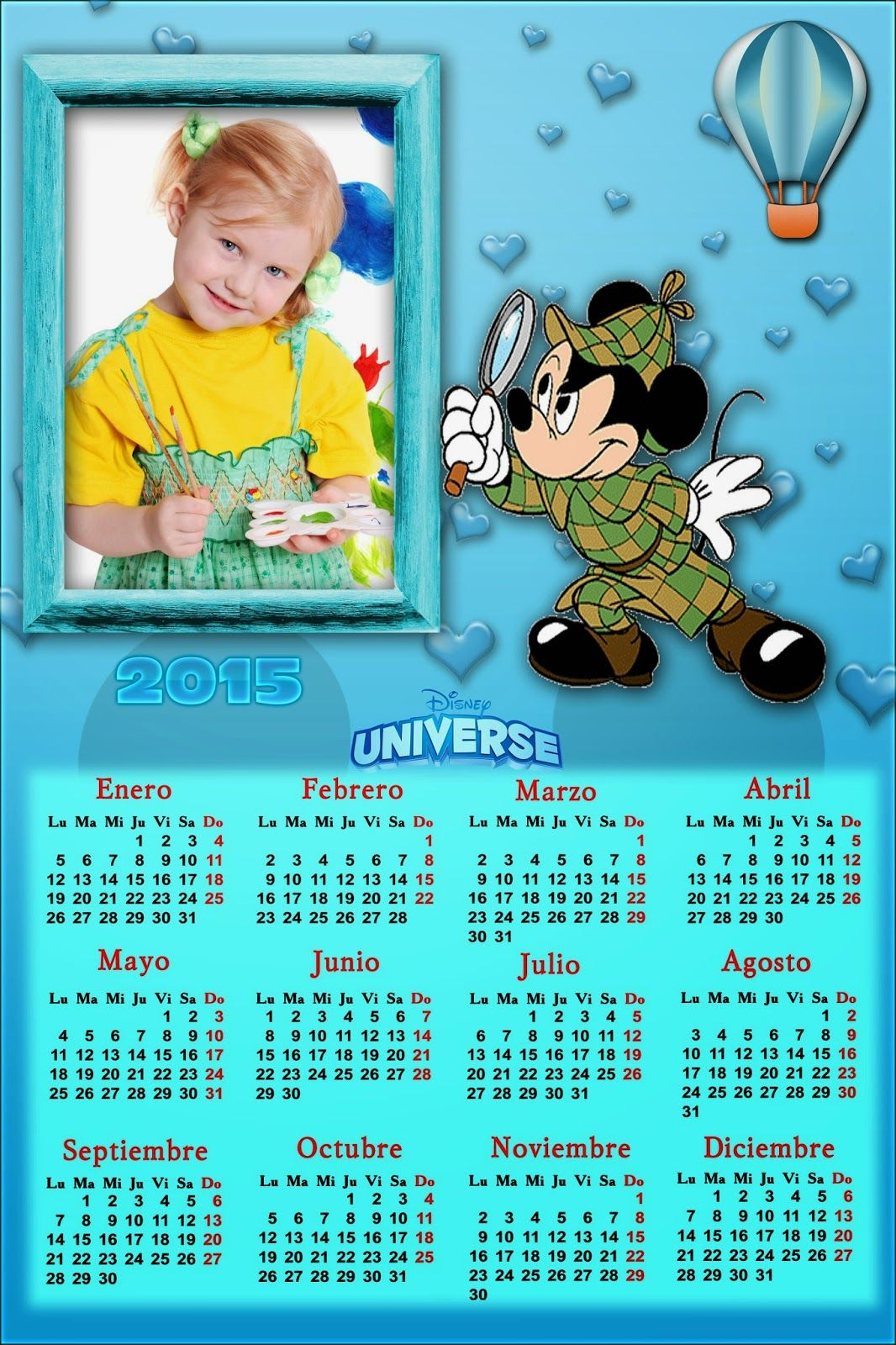 Recursos Photoshop Llanpac: Calendario del 2015 de Mickey Mouse para Photoshop...
