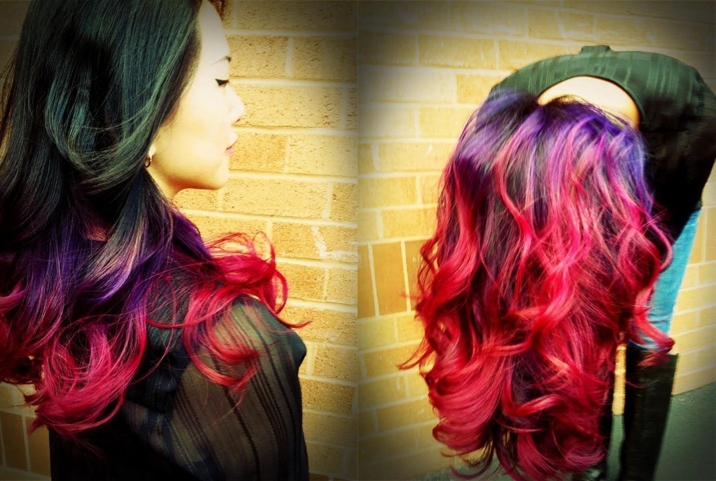 Best ombre tutorial on youtube uu purple to pink ombre done on
