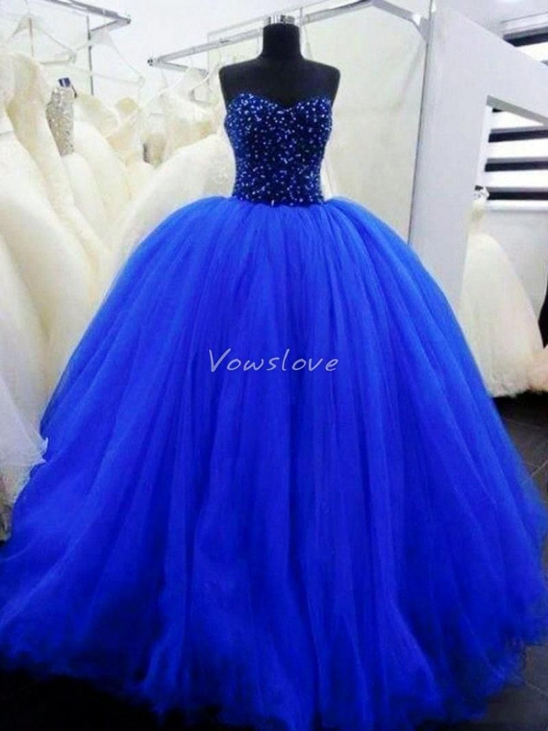 c3228bc53a260 Stunning Royal Blue Princess Tulle Ball Gown Quinceanera Dresses  #princesspromdress #Quinceaneradress #sweet16 #prom2k16 #prom2016