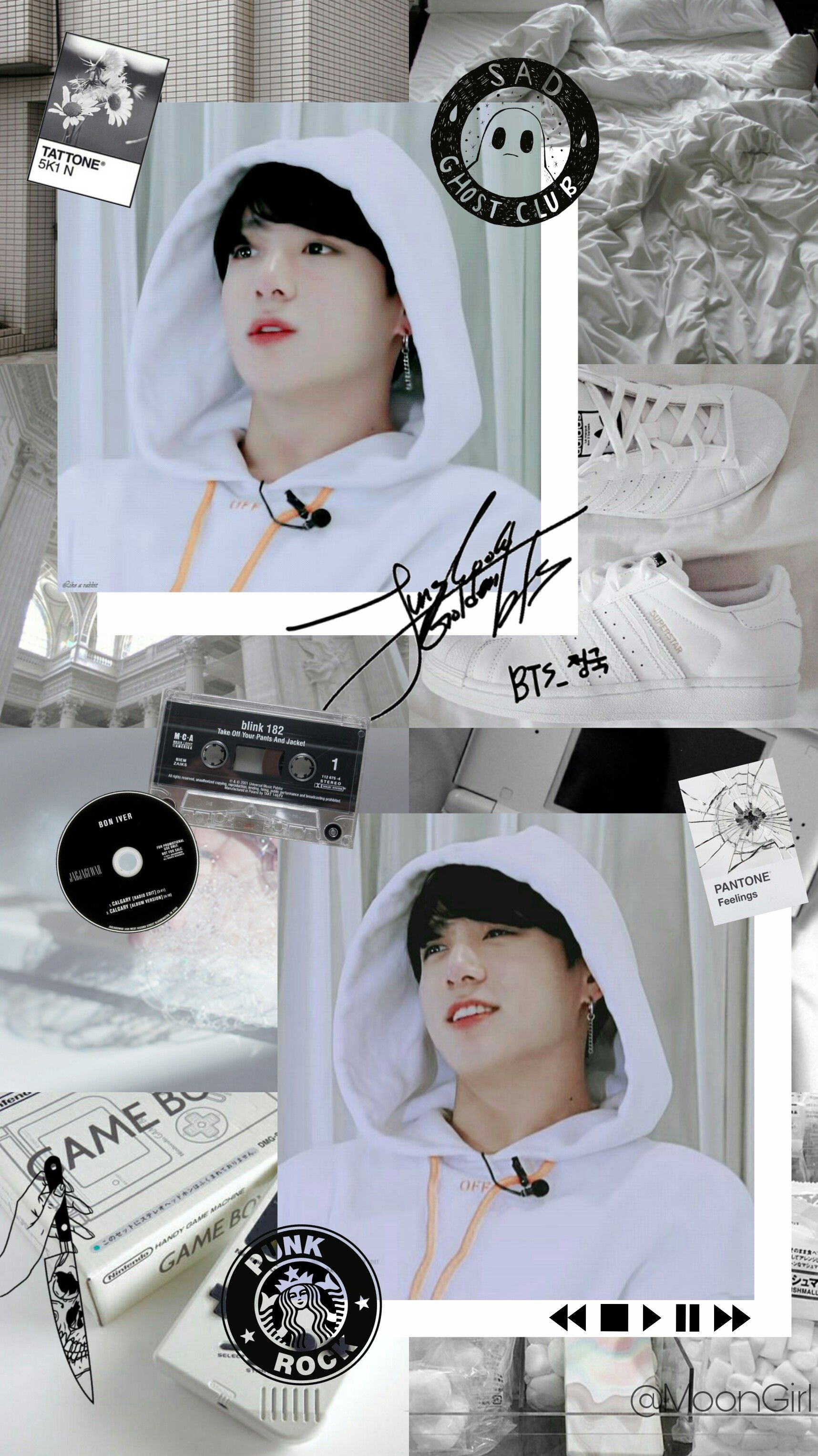 jungkook bts wallpaper white aesthetic aesthetic