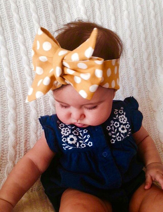 Baby Head Wrap Oversized Bow Baby Turban Big Bow Head Wrap