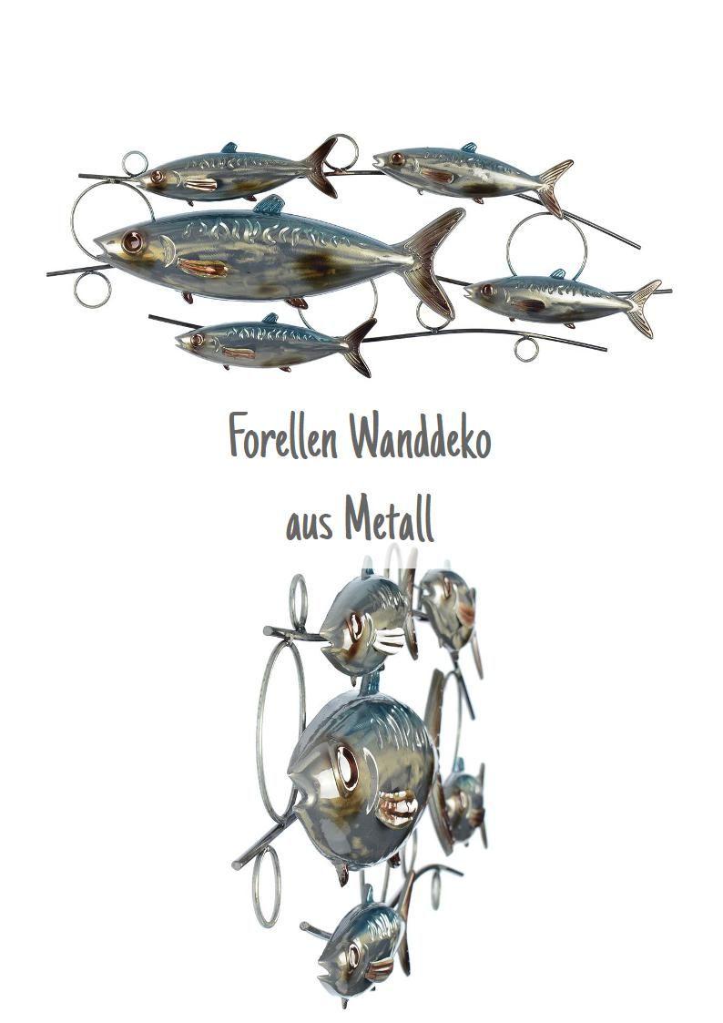 Schones Wandbild Wanddeko Wandrelief Aus Metall Im Forellen