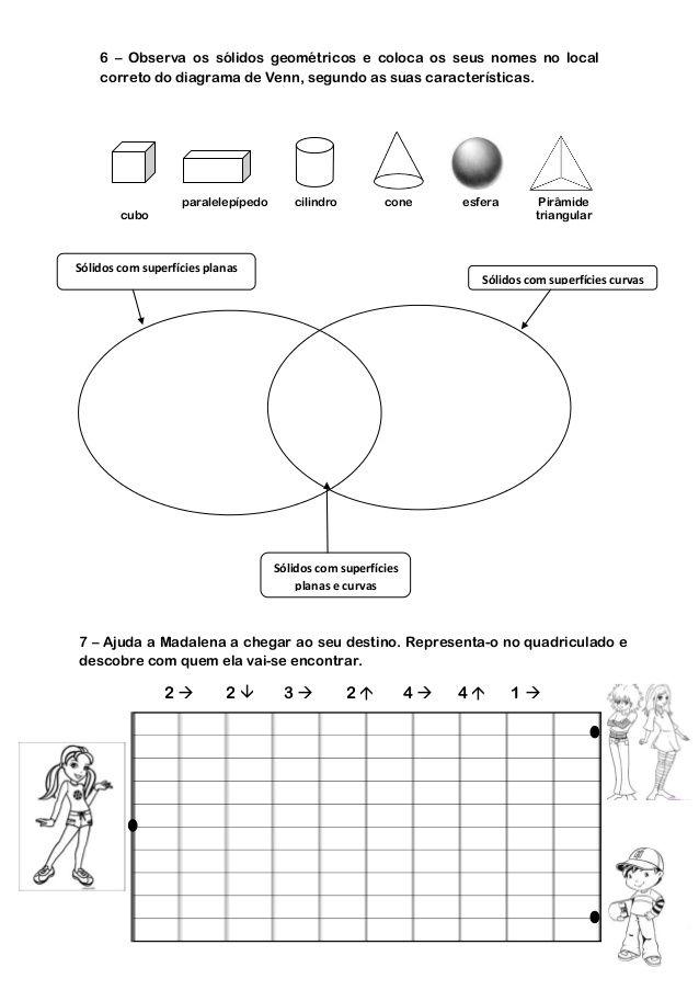 Ficha de matemtica de 3 ano slidos simetrias retas diagrama de venn resultado de imagem para pontos equidistantes ciclo exercicios ccuart Choice Image