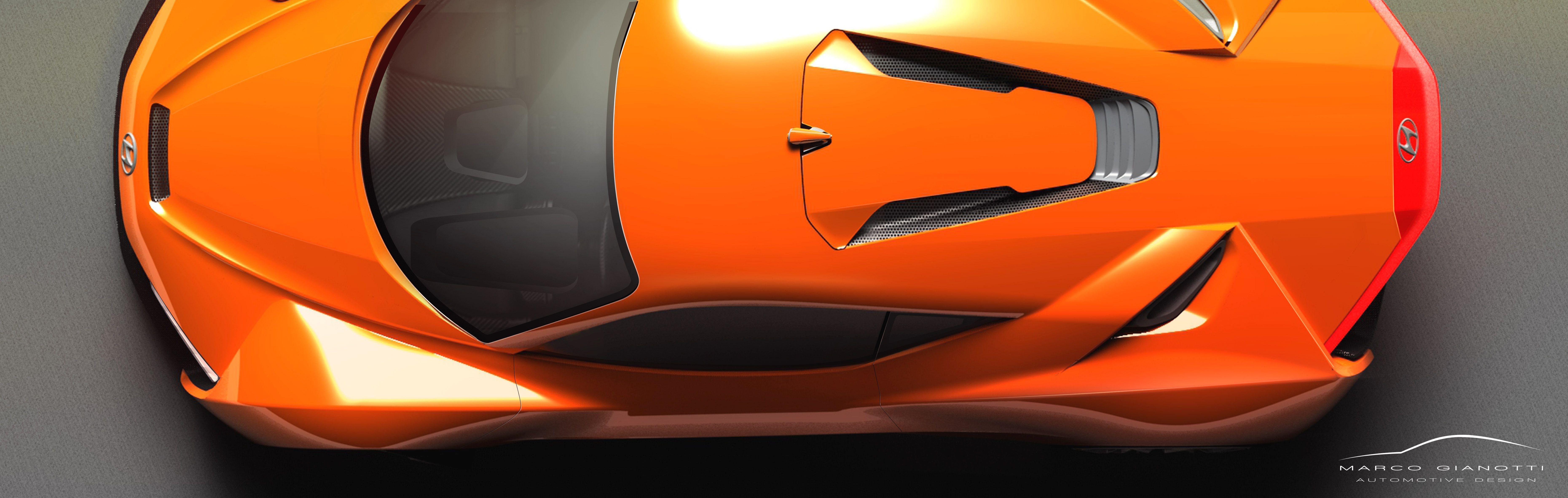 Project Hyundai Passocorto Rendering Top View Marco Gianotti