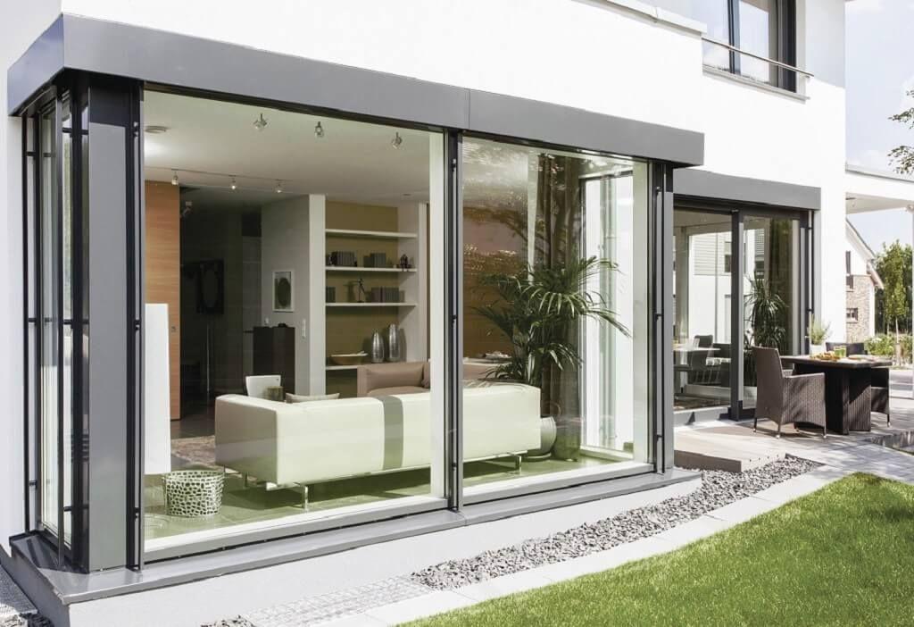 fassade fenster verglasung city life haus 250 weberhaus fassade au en architektur haus. Black Bedroom Furniture Sets. Home Design Ideas