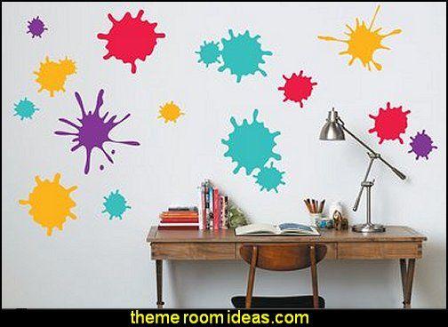 Splatter Paint Bedroom Ideas Bedding Walls Wall Girls