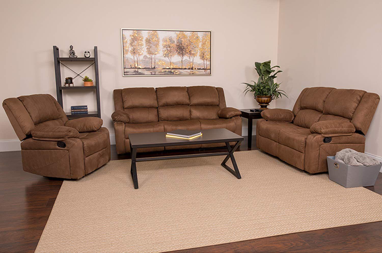flash furniture living room harmony series microfiber