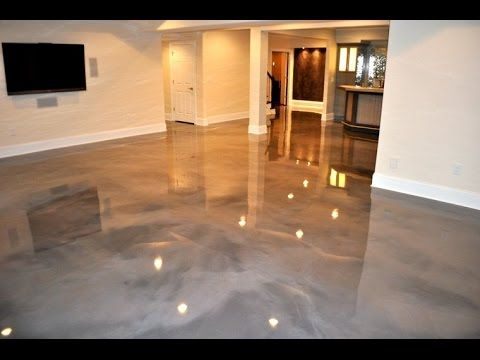 Sion Surfaces Resin Flooring White Pearl Youtube Stained Cement Floors Concrete