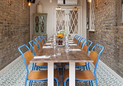 Classic look with Iguazu tiles in situ in The Wine Room at The Trafalgar Arms in Tooting