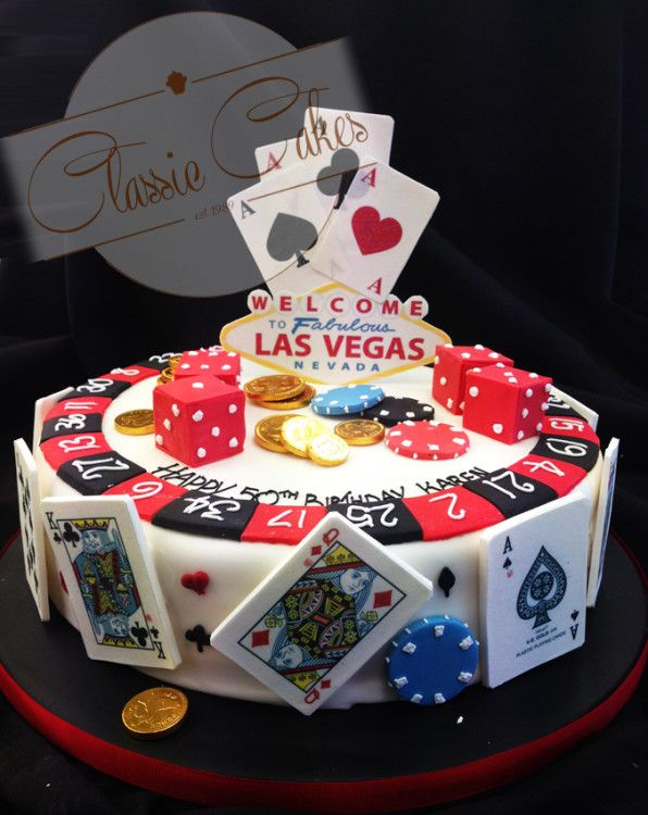 Las Vegas Casino Cake Sergios 30 Party Pinterest Casino Cakes