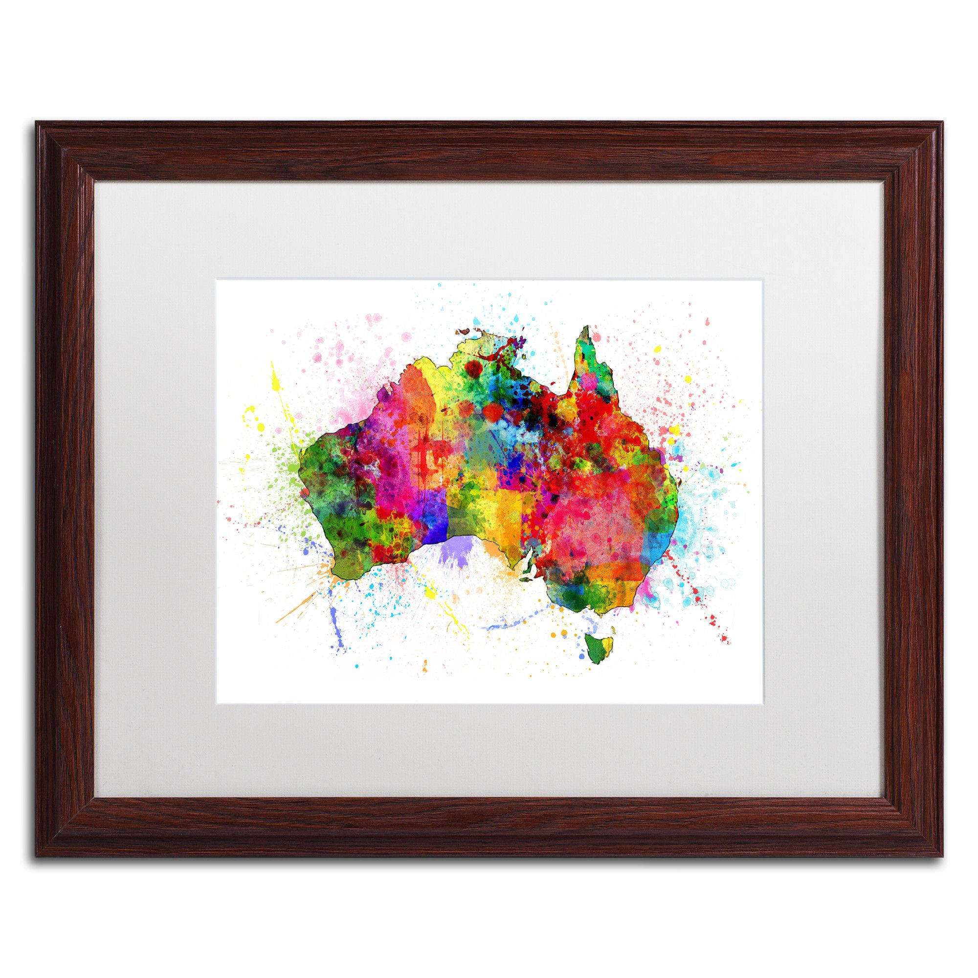 Australia paint splashes map by michael tompsett framed graphic art australia paint splashes map by michael tompsett framed graphic art gumiabroncs Image collections