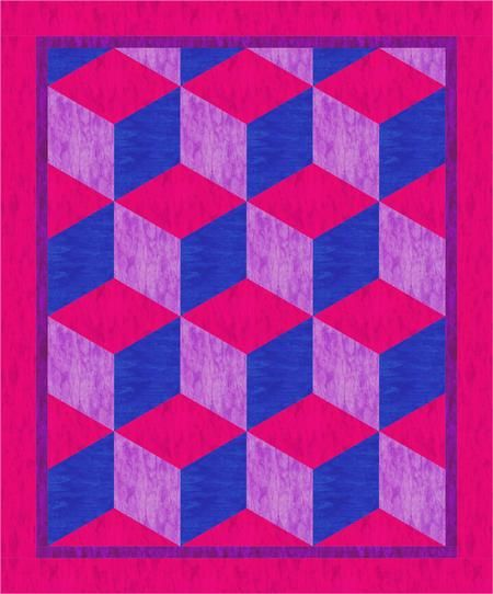 Baby Blocks Quilt Pattern.Baby Quilt Patterns Google Search Tumbling Blocks Quilt