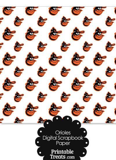 Baltimore Orioles Baseball Digital Paper From Printabletreats