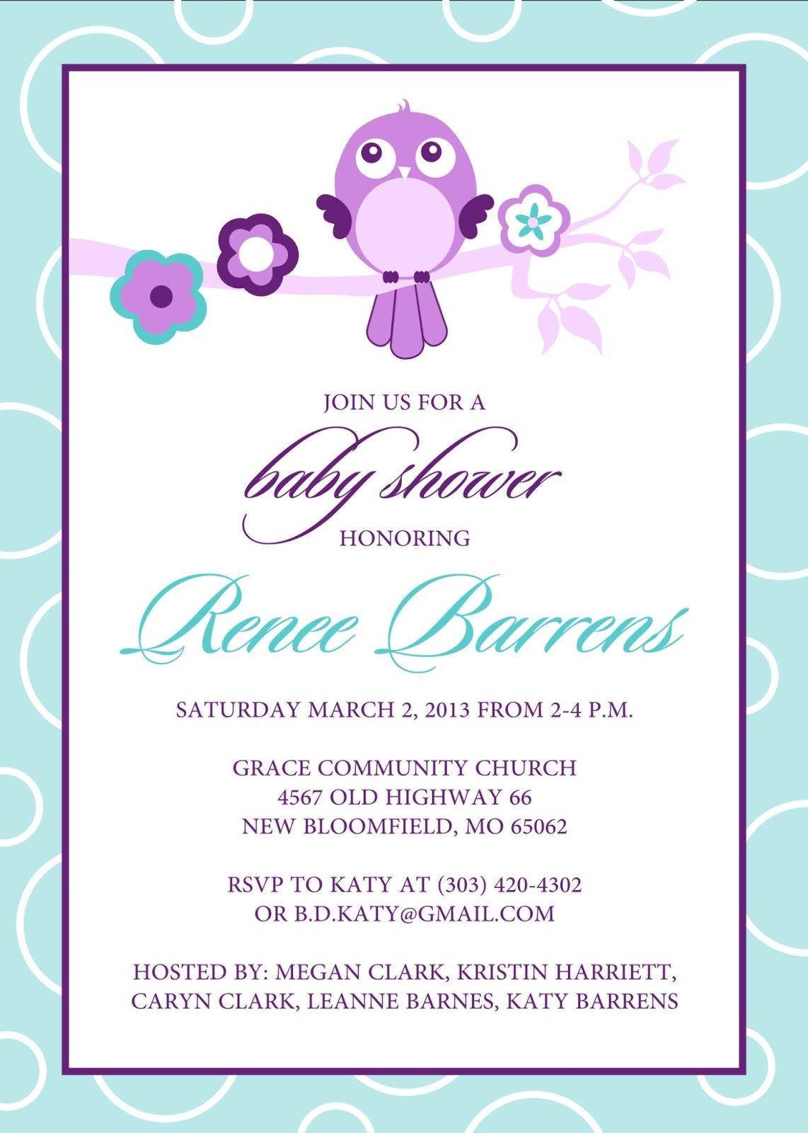 Free Baby Shower Invitation Templates Microsoft Word 9