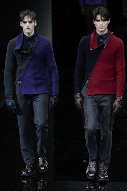Giorgio Armani Menswear Fall Winter 2014 Milan - NOWFASHION
