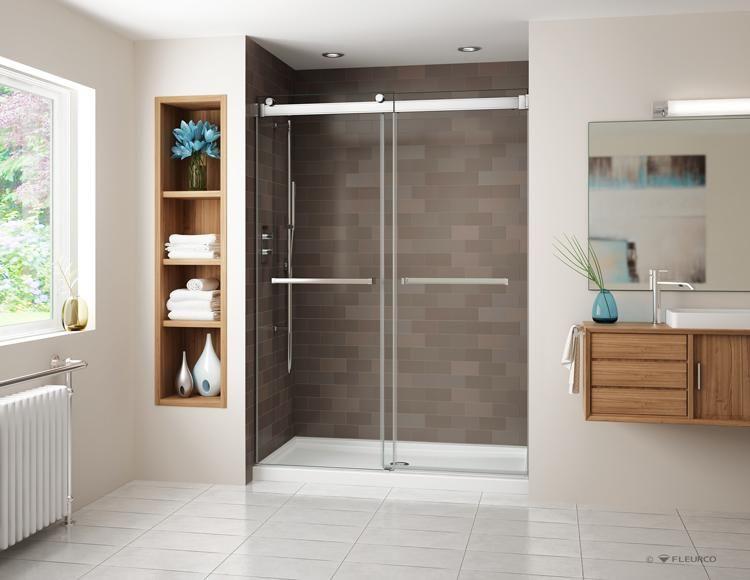 Fleurco Gemini Bypass Frameless Sliding Doors Shower Enclosure 60 Shower Doors Bathtub Doors Frameless Sliding Shower Doors