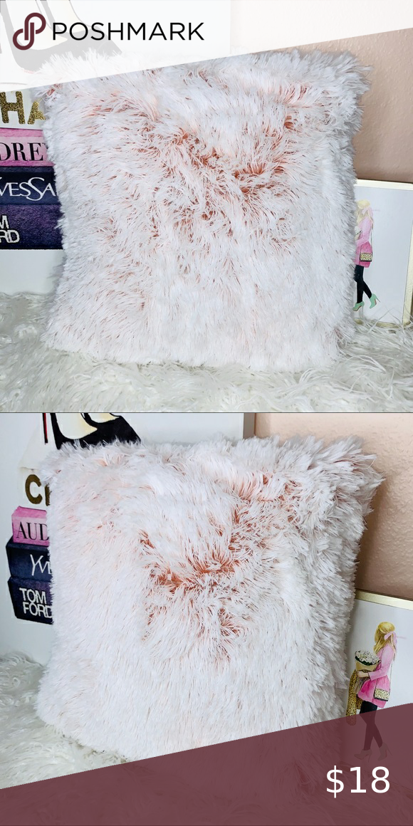 🌟1 Left💗💋Plush Pillow Dip Dye Pink Accent Decor