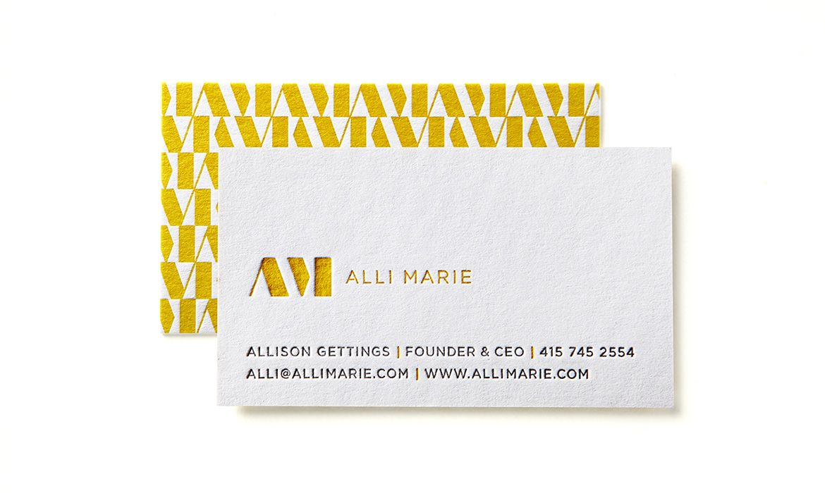 Alli Marie business cards designed by Studio MPLS. | Business ...