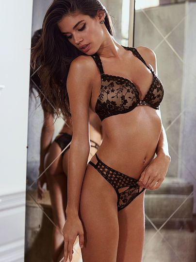 10ff1ea8463 Fishnet and florals. Naughty and nice. Hotter than hot.