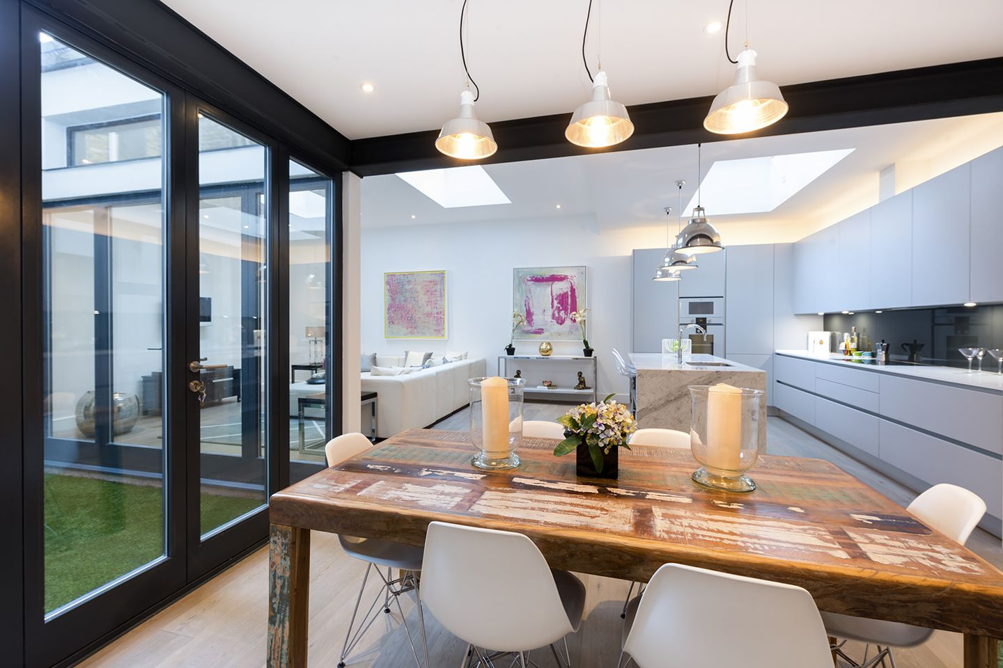 Interior design for double bedroom flat a lower ground floor flat in this kensington mansion block has been