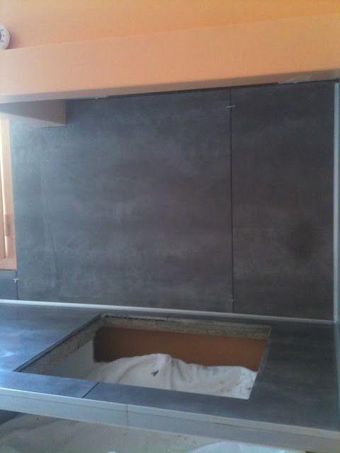 Credence Et Plan De Travail En 80x80 Cm Gris Deco Maison Rangement Organisation Plan De Travail