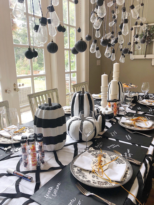 How To Make Creative Halloween Table Decorations Table Decorations Diy Table Decor Dinner Table Decor