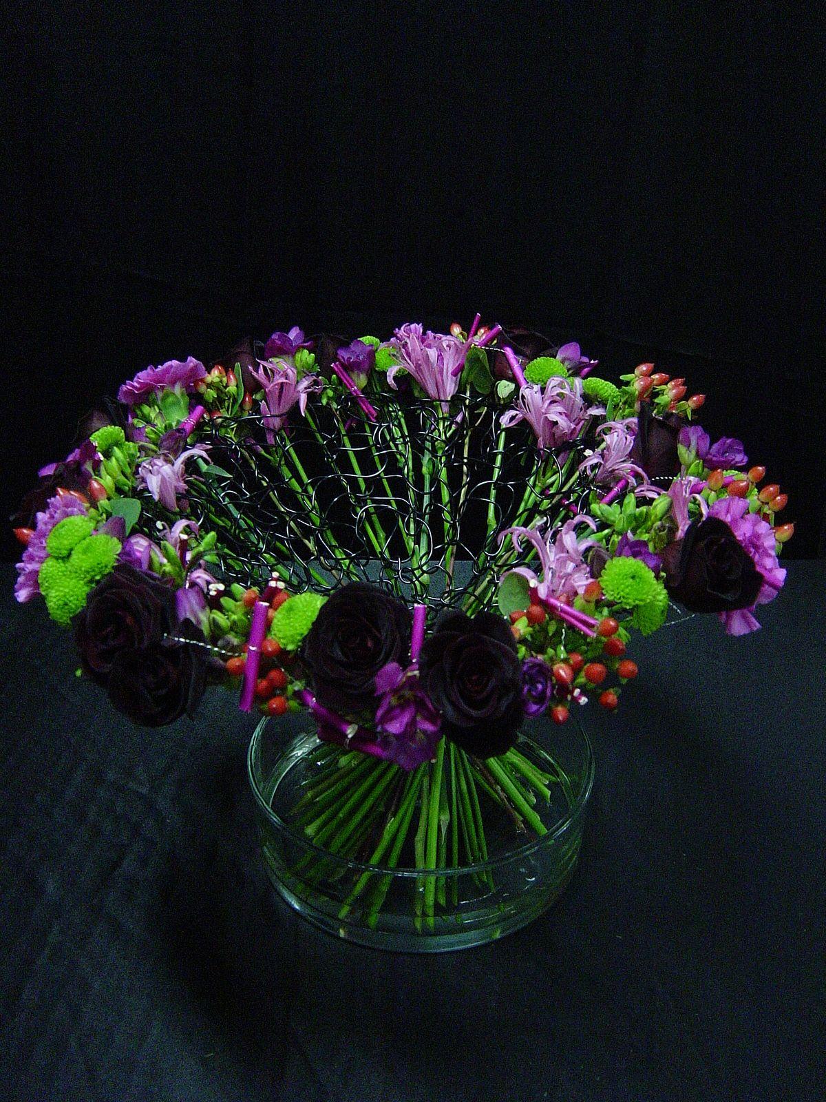bouquet structure en crochet et son fleurissement cfa blagnac france fleur pinterest. Black Bedroom Furniture Sets. Home Design Ideas