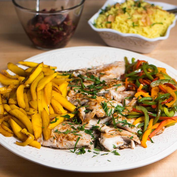 Caribbean Style Fish With Orange Ginger Salad