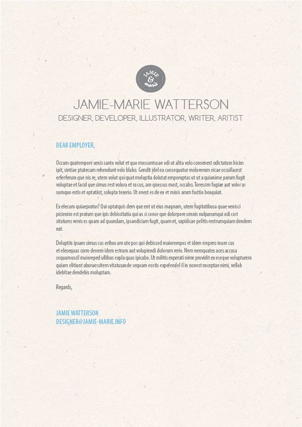 Graphic Design Cover Letter Example Graphic Design Pinterest - example of graphic design resume