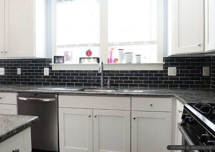 black kitchen backsplash ideas black slate backsplash tile new caledonia granite 4684