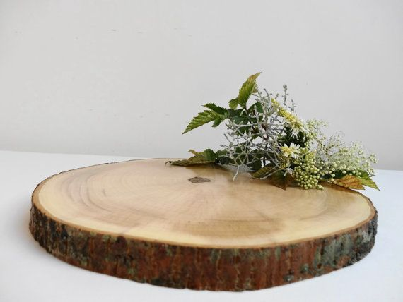 8 9 Wood Slice Tree Slice Wood Slab Maple Wood Bark Wood Slice Wood Circle Tree Trunk Slice Cake Stand Trivet Centerpiece Avec Images Dessous De Plat Tranches D Arbres