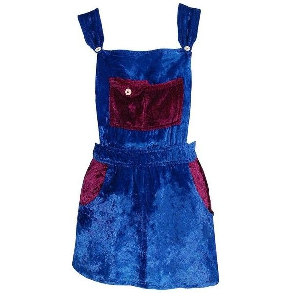 Preowned 1970's Mr Freedom Blue & Purple Crushed Velvet Mod Mini... (21 415 UAH) ❤ liked on Polyvore featuring dresses, aesthetic day dresses, purple, blue a line dress, blue dress, pinafore dress, purple dresses and a line mini dress