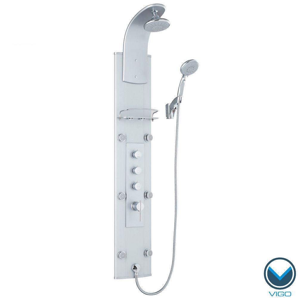 VIGO Shower Massage Panel with Rain Shower Head | Overstock.com ...