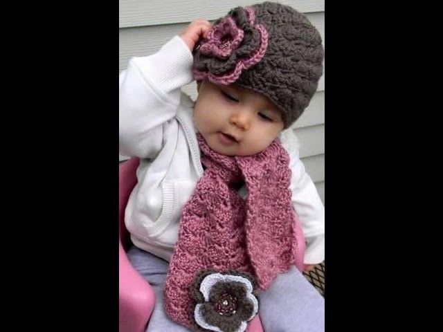 Como tejer Gorro en crochet para niñas  addc19cf870