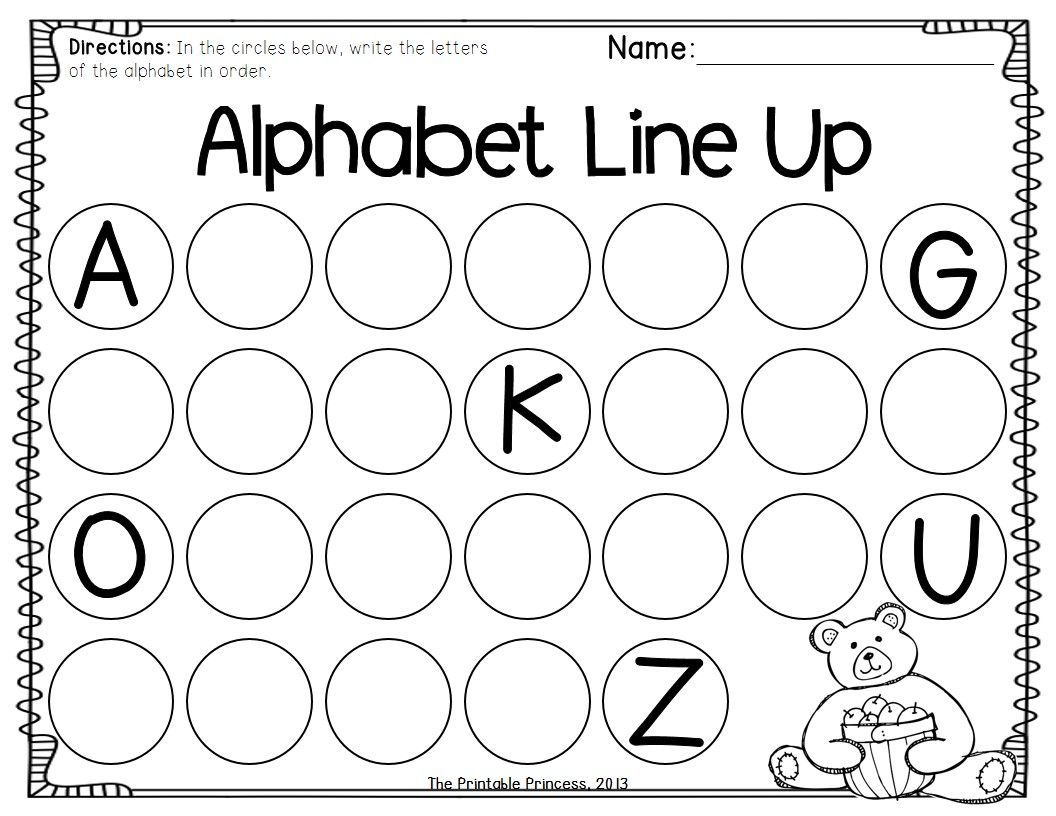 Worksheets For Kids Alphabets