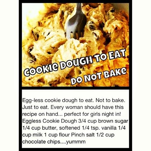 Eggless Cookie Dough Recipe Cookie Dough To Eat Eggless Cookie