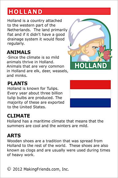 Facts About Holland  World Thinking Day, Netherlands -8354