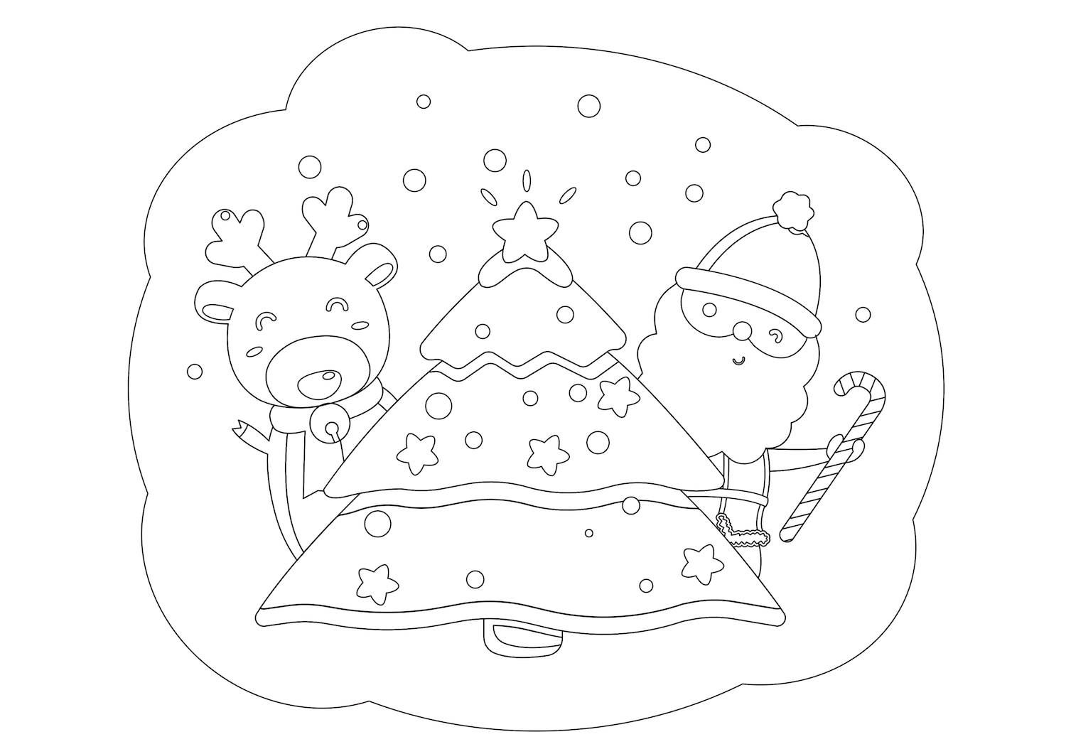 Free Christmas Coloring Pages Kidspartyworks Com Free Christmas Coloring Pages Santa Coloring Pages Christmas Coloring Pages