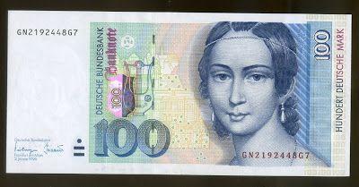 100 DM Deutsche Mark banknote (19962002) Clara Schumann