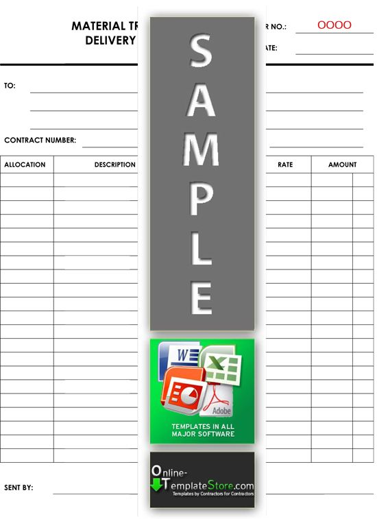 Material Transfer Template  Project Management Templates