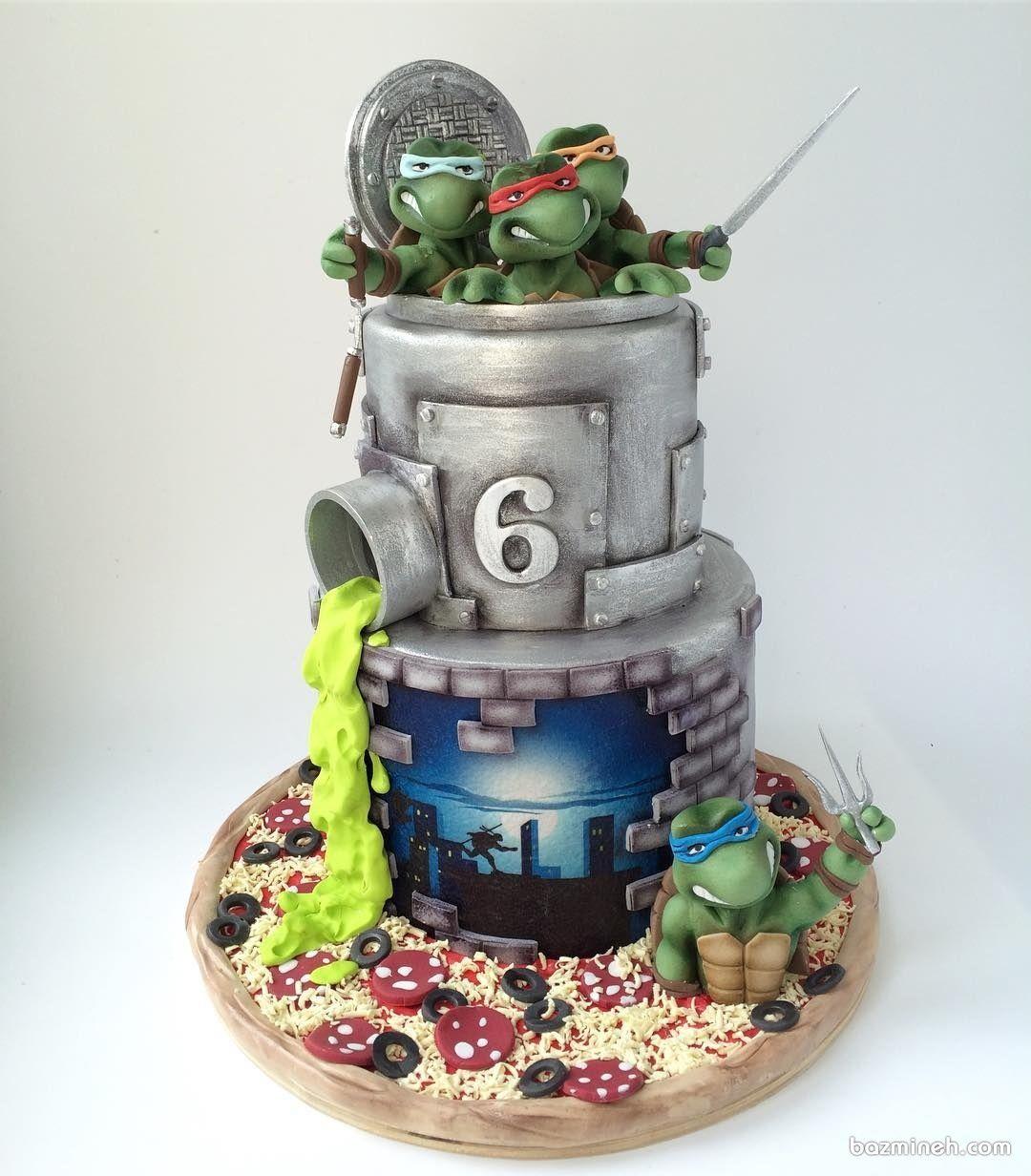 کیک تولد پسرانه با تم لاک پشت های نینجا Unique cakes