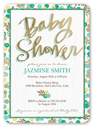 Elefun Baby Boy 4x5 Baby Shower Invitation Cards Products Baby