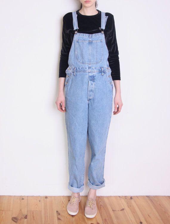 90 39 S Perfect Dungarees Italian Denim Dungaree Pants Overalls Light Blue Denim Overall Pants Mom Jeans Grung Outfits 2017 Light Blue Denim Outfit Goals